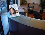 curved glass counter top