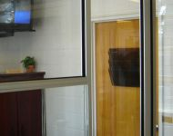 WPBA Channel 30 TV reception area custom windows and doors